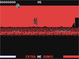 In game image of Switchblade on the Commodore 64.