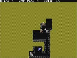 In game image of Sword of Fargoal on the Commodore 64.