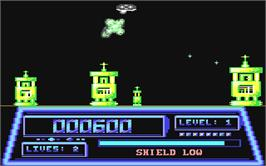 In game image of T-Bird on the Commodore 64.