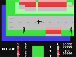 In game image of TLL: Tornado Low Level on the Commodore 64.