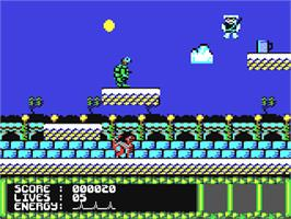 In game image of Tai-Chi Tortoise on the Commodore 64.