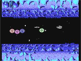 In game image of Tangent on the Commodore 64.