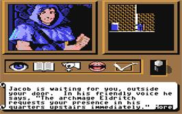 In game image of Tangled Tales on the Commodore 64.