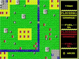 In game image of Tank on the Commodore 64.