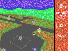 In game image of Target: Renegade on the Commodore 64.