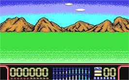 In game image of Target Plus on the Commodore 64.