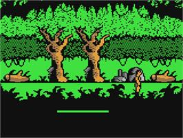 In game image of Tarzan on the Commodore 64.