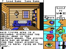 In game image of Tass Times in Tonetown on the Commodore 64.