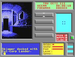 In game image of Tau Ceti on the Commodore 64.