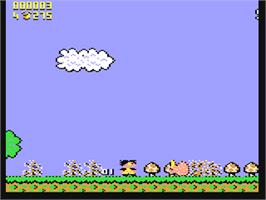 In game image of Terry's Big Adventure on the Commodore 64.
