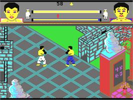 In game image of Thai Boxing on the Commodore 64.