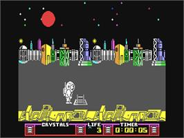 In game image of The Arc of Yesod on the Commodore 64.