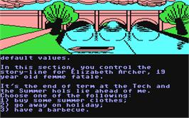 In game image of The Archers on the Commodore 64.