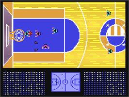 In game image of The Basket Manager on the Commodore 64.