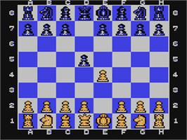 In game image of The Chessmaster 2000 on the Commodore 64.