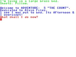 In game image of The Count on the Commodore 64.