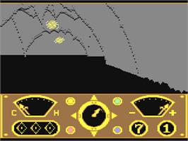 In game image of The Eidolon on the Commodore 64.