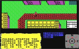 In game image of The Faery Tale Adventure: Book I on the Commodore 64.