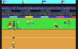 In game image of The Games: Summer Edition on the Commodore 64.