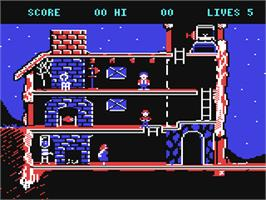 In game image of The Goonies on the Commodore 64.