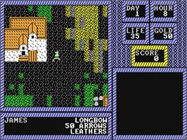 In game image of The Keys to Maramon on the Commodore 64.