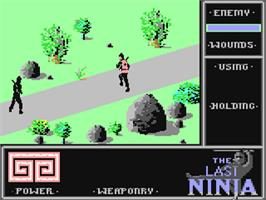 In game image of The Last Ninja on the Commodore 64.