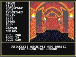 In game image of The Legend of Blacksilver on the Commodore 64.