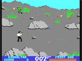 In game image of The Living Daylights on the Commodore 64.