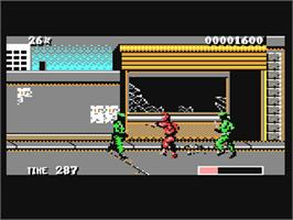 In game image of The Ninja Warriors on the Commodore 64.
