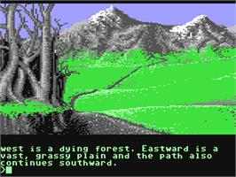 In game image of The Pawn on the Commodore 64.