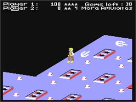 In game image of The Scrolls of Abadon on the Commodore 64.