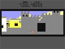 In game image of The Seven Cities of Gold on the Commodore 64.