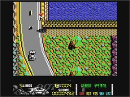 In game image of The Spy Who Loved Me on the Commodore 64.