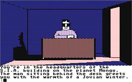 In game image of The Tracer Sanction on the Commodore 64.