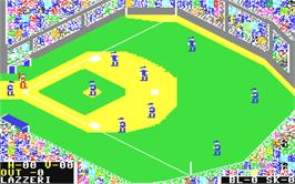 In game image of The World's Greatest Baseball Game on the Commodore 64.