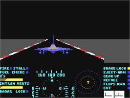 In game image of Thud Ridge: American Aces in 'Nam on the Commodore 64.