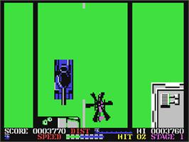 In game image of ThunderBlade on the Commodore 64.