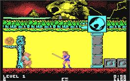 In game image of Thundercats on the Commodore 64.