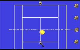 In game image of Tie Break on the Commodore 64.
