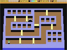 In game image of Tilt on the Commodore 64.