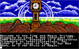In game image of Time and Magik: The Trilogy on the Commodore 64.