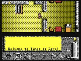 In game image of Times of Lore on the Commodore 64.