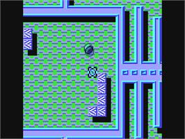 In game image of Titan on the Commodore 64.