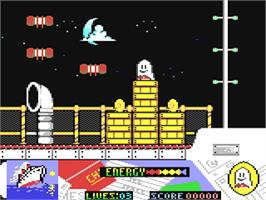 In game image of Titanic Blinky on the Commodore 64.