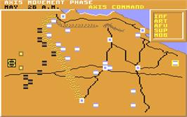In game image of Tobruk: The Clash of Armour on the Commodore 64.