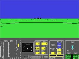 In game image of Tomahawk on the Commodore 64.