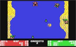 In game image of Toobin' on the Commodore 64.