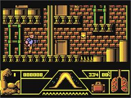 In game image of Total Recall on the Commodore 64.