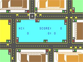 In game image of Traffic on the Commodore 64.