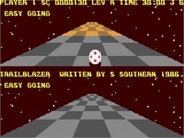 In game image of Trailblazer on the Commodore 64.